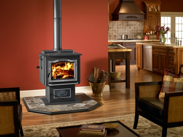 Plus, you can add an optional grilling grate inside the top loading door to  grill food all year long right on your wood stove! - Harman Wood Stoves - Choosing The Best Wood Burning Stove