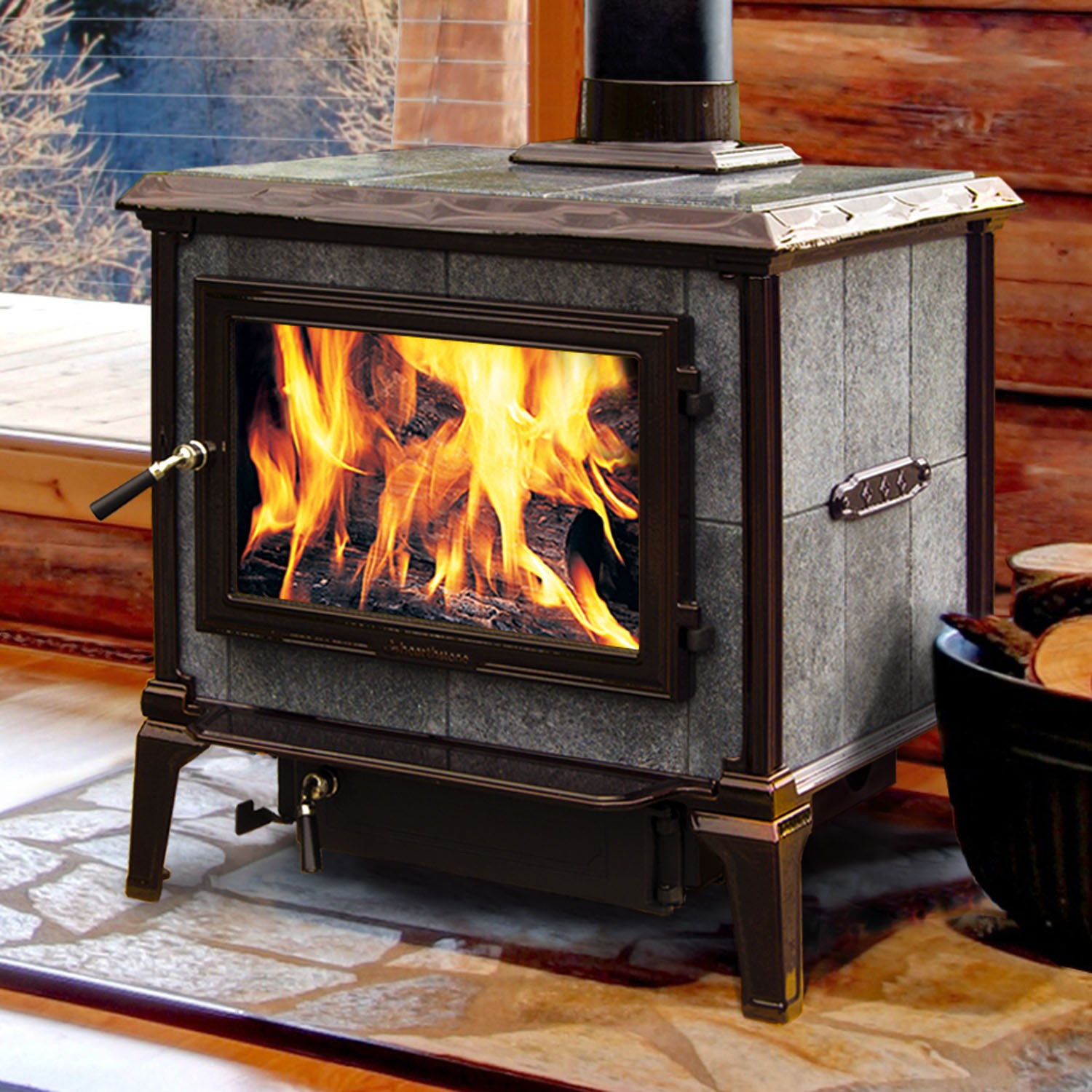 A full review of Hearthstone wood stoves.  Learn about the benefits of a soapstone stove and determine if it