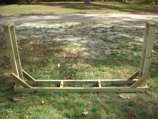 how to build a log rack