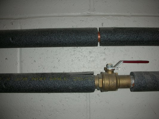 Foam pipe insulation an easy way to save money for Water pipe noise reduction