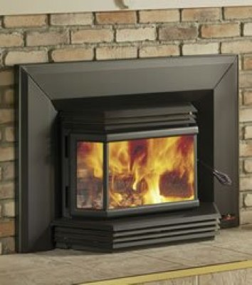 fireplace insert more efficient than a open fireplace