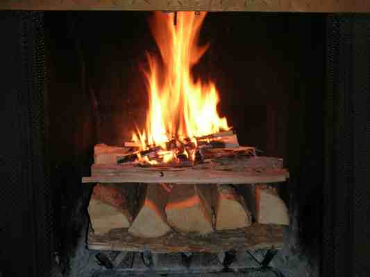 Image result for wood burning fire upside down