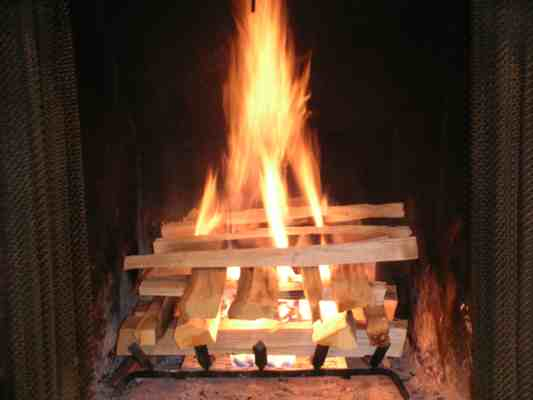 Log Cabin Fire How To Build One